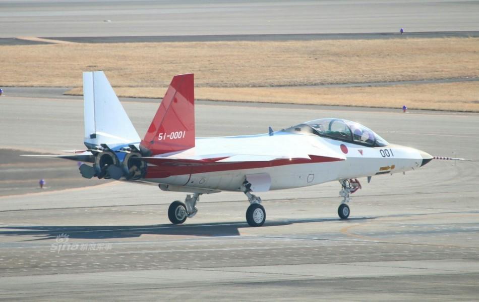 Mitsubishi X-2, poco antes de su primer vuelo.