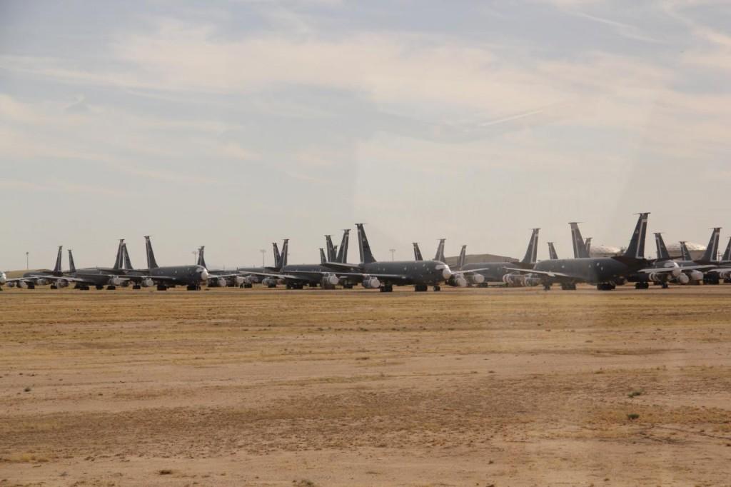 KC-135 esperando nuevo dueño en el AMARG.