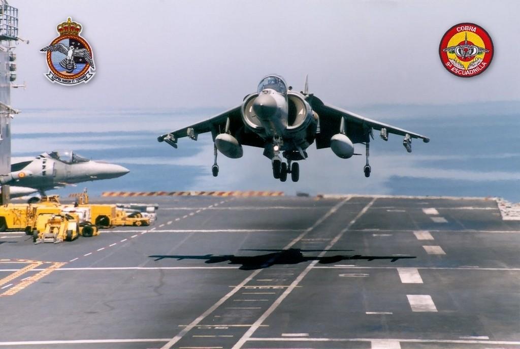 AV-8B Harrier. Apoyo aéreo cercano de la Infantería de Marina y defensa aérea de la Flota.