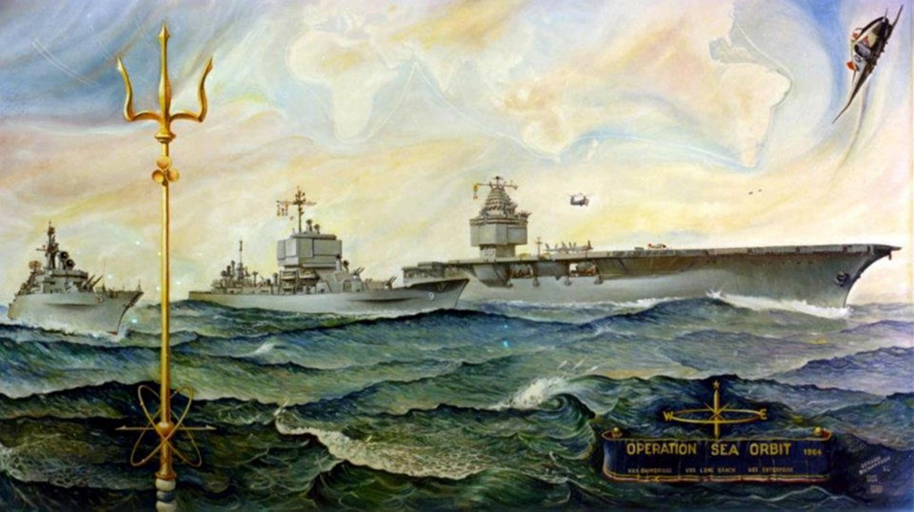 Postal conmemorativa de la operación Sea Orbit.