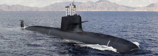Submarino S-80, en una impresión artística. Esperamos tener pronto imágenes de sus pruebas de mar.