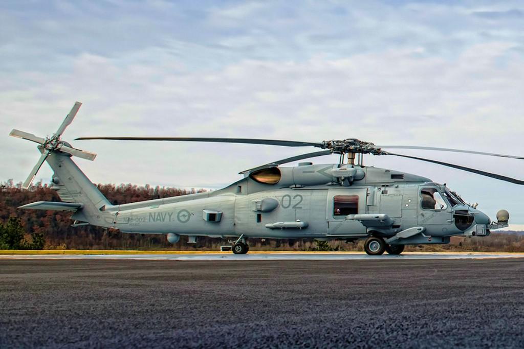 MH-60R del paquete, entregado a la RAN en la factoría de Lockheed Martin.