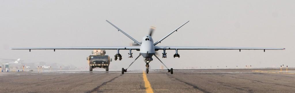 MQ-9 Reaper despegando en Afganistán.