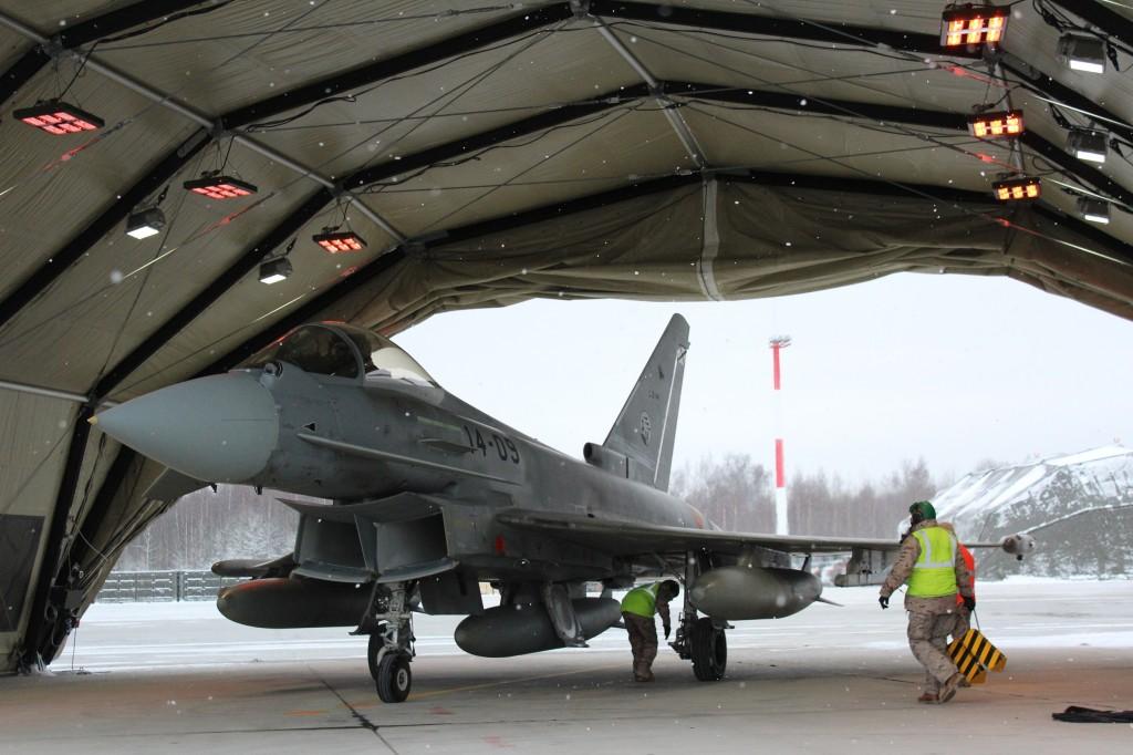 Eurofighter del Ala 14 en el reciente despliegue en Lituania.