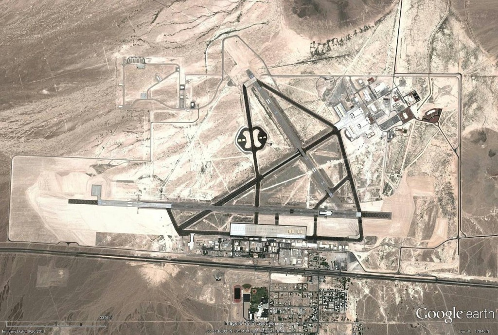 La base aérea de Creech, en Indian Springs, Nevada, hogar de gran parte de los escuadrones de UAV de la USAF.
