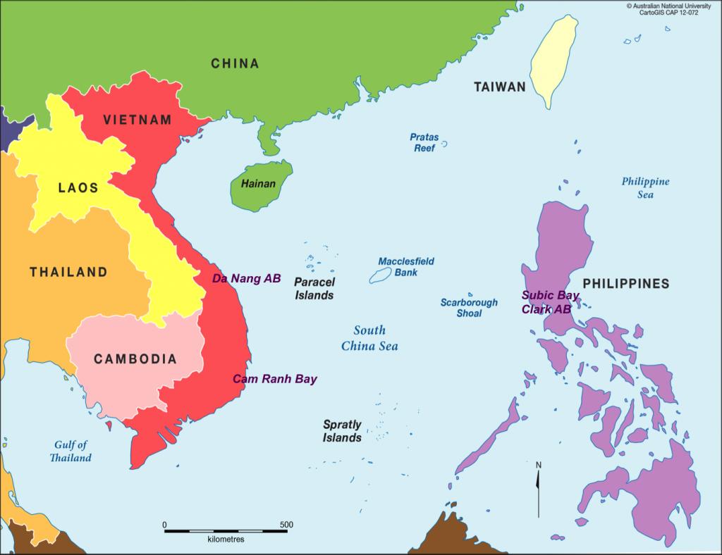 Cam Ranh y su situación en el Mar de China Meridional.