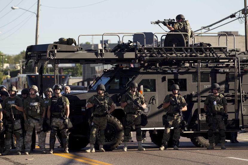 No es Faluya. Es Ferguson, Missouri.