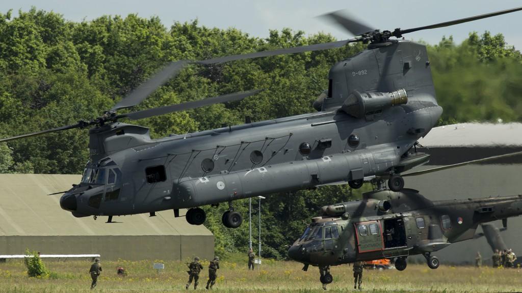 Holanda ha apostado por el CH-47F para su capacidad aeromóvil.