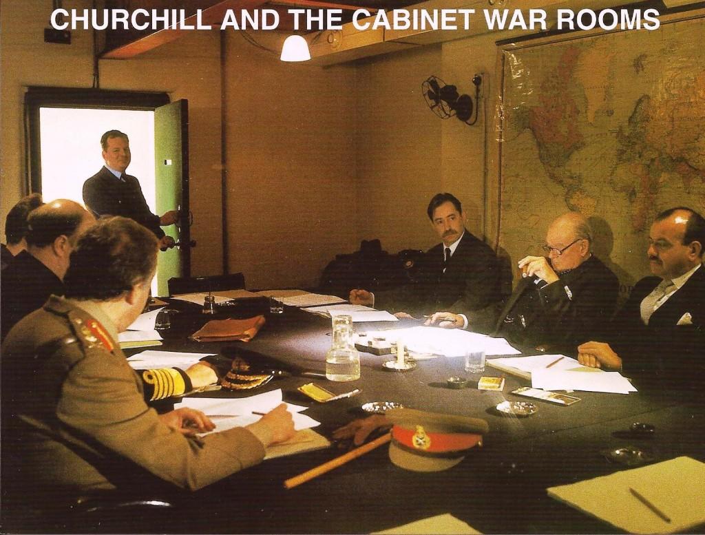 """La """"War Room"""" o sala de guerra de Churchill, abierta al público desde 1984."""